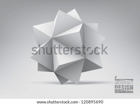 Abstract geometric shape from pyramids for graphic design, you can change colors - stock vector