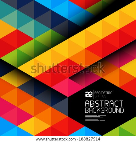 Abstract geometric shapes and patterns backgrond - vector illustration. - stock vector