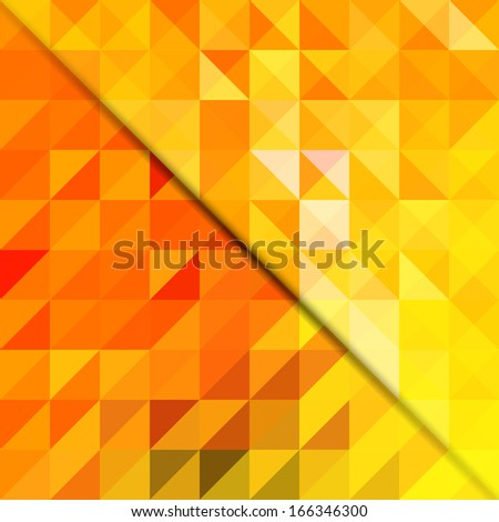 Abstract geometric shapes background, cover design - stock vector
