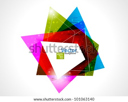 Abstract geometric shapes background with colorful design for flyer or poster and copy space, isolated on white. EPS 10, vector illustration. - stock vector