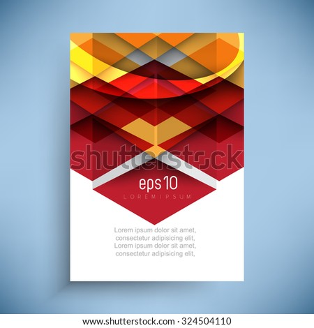 abstract geometric shapes corporate brochure leaflet background illustration - stock vector