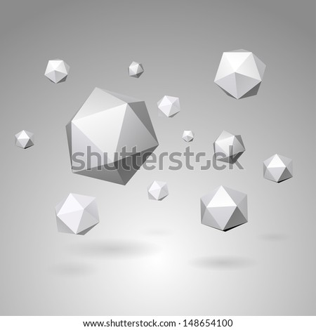 Abstract geometric shapes vector illustration  - stock vector