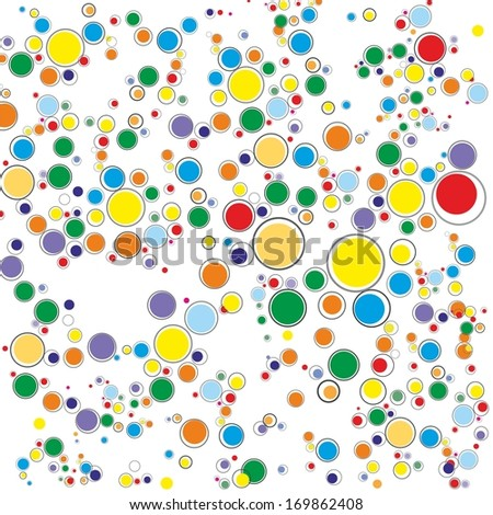 Abstract geometric shapes vector illustration. Design template. - stock vector