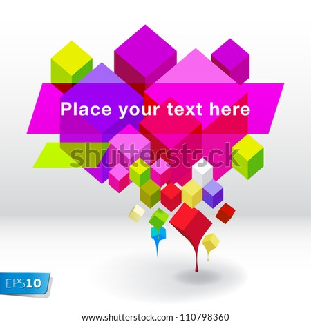 Abstract geometric� speech bubble background, vector Eps10 illustration. - stock vector
