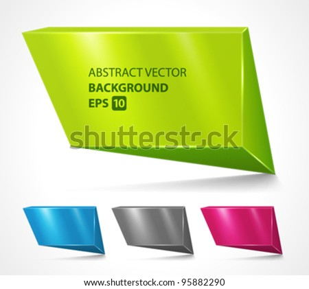 Abstract geometric speech bubbles set vector background. Eps 10. - stock vector
