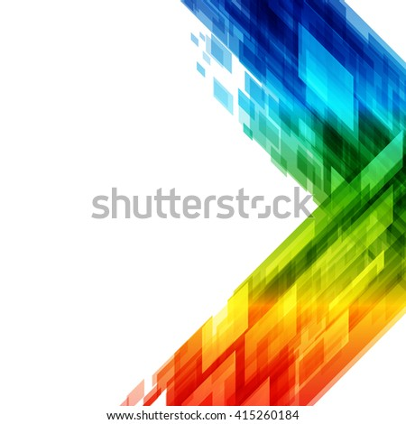 Abstract geometric squares lines vector background. Technology Background. - stock vector