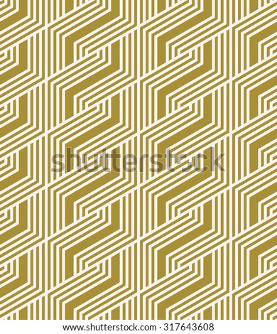 abstract geometric striped pattern. seamless vector background. - stock vector