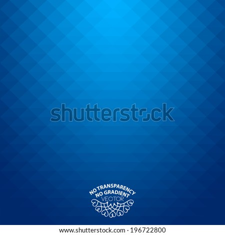Abstract geometric style blue background - stock vector