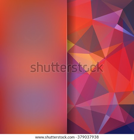 Abstract geometric style colorful background. Autumn business background  Blur background with glass. Vector illustration - stock vector