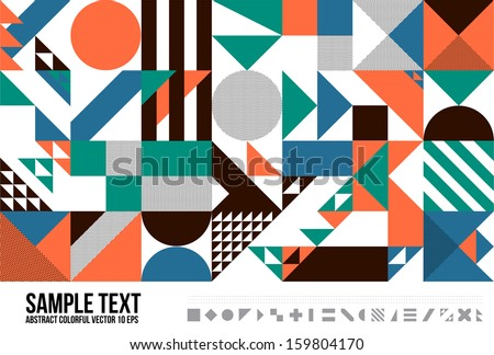 Abstract Geometric Triangle Pattern.  Background , Cover , Layout , Magazine, Brochure , Poster , Website , name card etc. - stock vector