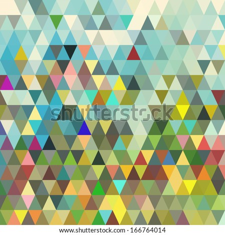 Abstract geometric triangle seamless pattern. Abstract colorful triangles background design vector. Retro pattern of geometric shapes. Triangle Geometrical Multicolored Background.  - stock vector