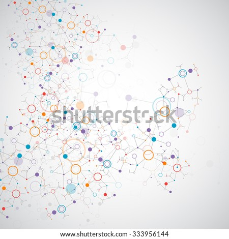 Abstract geometric vector background. Circle technology or science concept. - stock vector