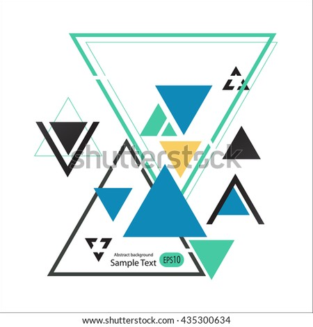 Abstract geometric vector background with triangles.