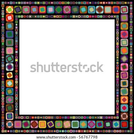 Abstract geometric vector frame - stock vector