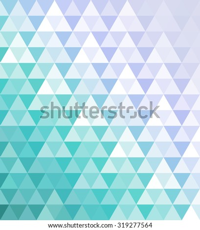 Abstract geometric vector mosaic background of colorful triangles in lavender colors