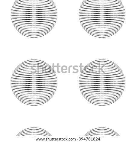 Abstract geometric vector pattern. Spheres on white background.