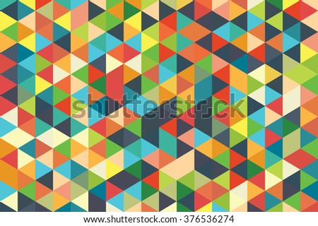 Abstract Geometric Wallpaper Illustration