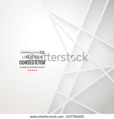 Abstract geometric white background with polygons. Info graphics composition with geometric shapes.Retro label design. Vector illustration. - stock vector