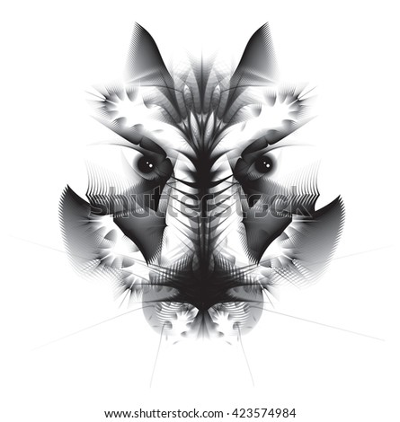 Abstract geometric wolf - stock vector