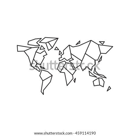 Abstract geometric world map vector illustration stock vector abstract geometric world map vector illustration eps 10 gumiabroncs Gallery