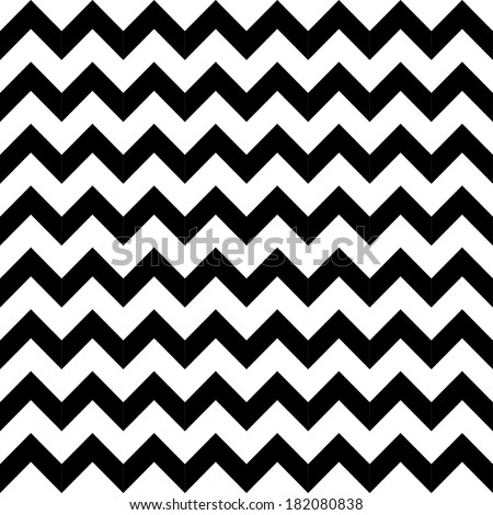 Abstract geometric zigzag seamless pattern in black and white, vector - stock vector