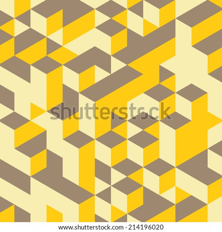 Abstract geometrical 3d background. Vector illustration. Can be used for wallpaper, web page background. - stock vector