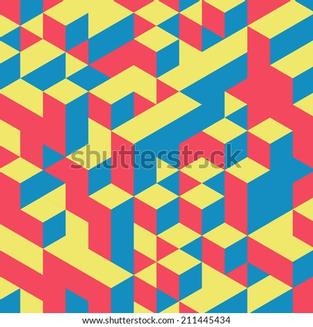 Abstract geometrical 3d colorful background. Can be used for wallpaper, web page background.   - stock vector