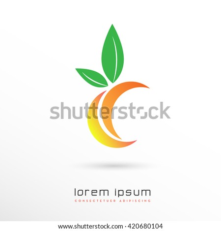 ABSTRACT GEOMETRICAL FRUIT ICON / VECTOR - stock vector