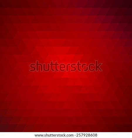Abstract geometrical multicolored background consisting of triangular elements in red. Vector illustration. - stock vector