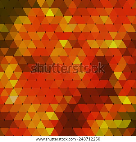 Abstract geometrical multicolored background consisting of triangular elements. Vector illustration. - stock vector