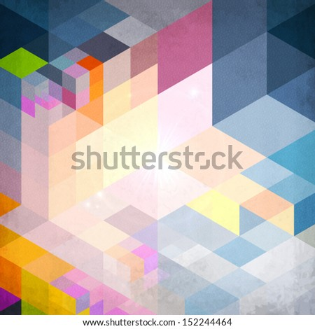 Abstract geometry bright shining vector background - stock vector