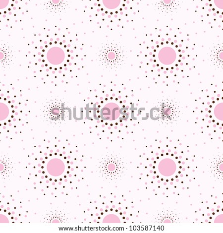 Abstract geometry pink background with circles.