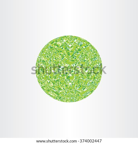 abstract geometry polygon ball green circle background vector design