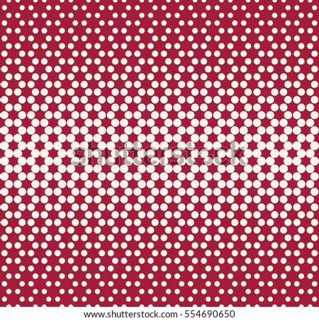 Abstract geometry red fashion halftone dots pattern