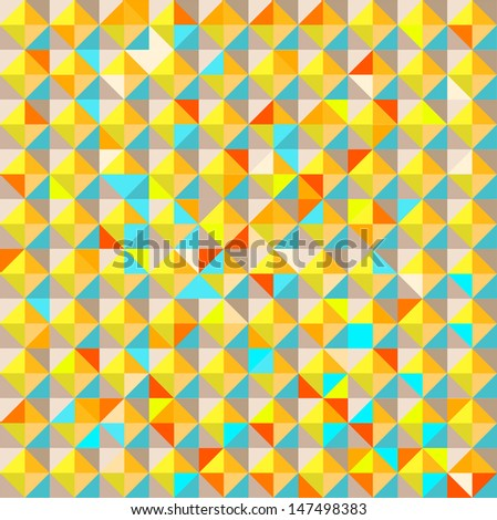 Abstract geometry seamless color mosaic