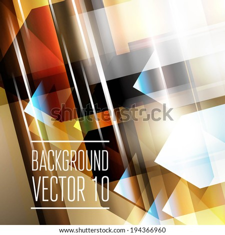 Abstract geometry triangle background with sparks and flashes. Vector Illustration, Graphic Design Editable For Your Design. - stock vector
