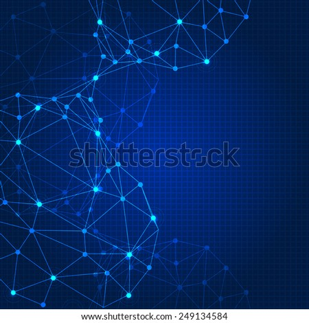 Abstract geometry vector background - stock vector