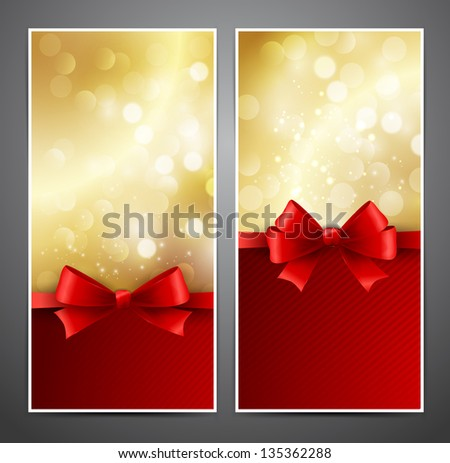 Abstract gift card - stock vector