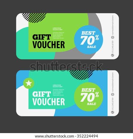 Gift Voucher Template Amount Discount Contact Vector – Blank Voucher