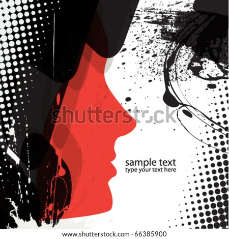 abstract girl background design