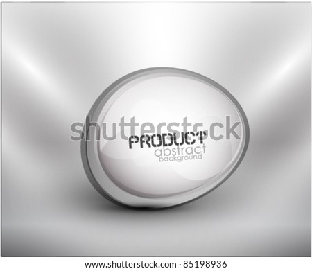 Abstract glass shape background