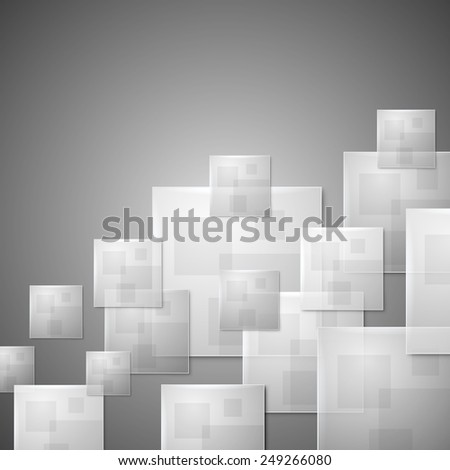 Abstract glass squares business vector background. - stock vector