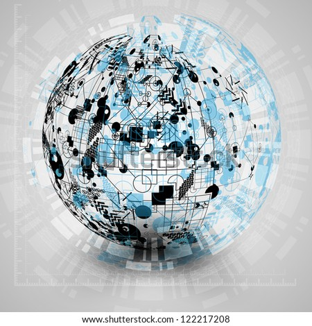 "Abstract ""global communication"" vector design - stock vector"