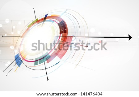 abstract global infinity computer  technology concept business background - stock vector