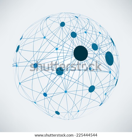 Abstract global network   EPS10 vector design - stock vector