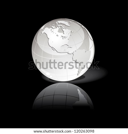 Abstract globe background - stock vector
