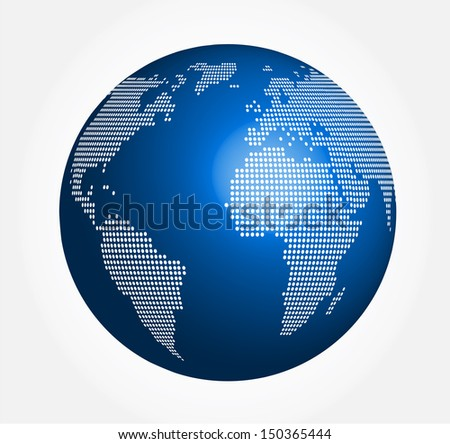 abstract globe - sphere vector - stock vector