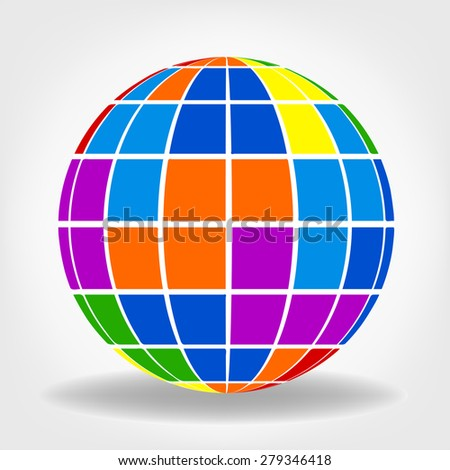 abstract globe - sphere vector - stock vector