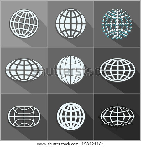 Abstract globe symbol -  icon set