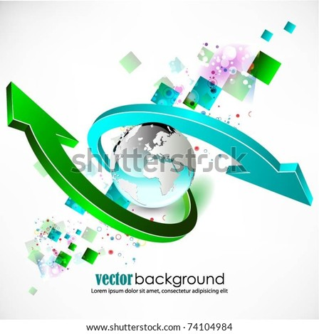 abstract globe vector background - stock vector